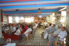 Devotees relishing  Srimad Bhagvat Katha